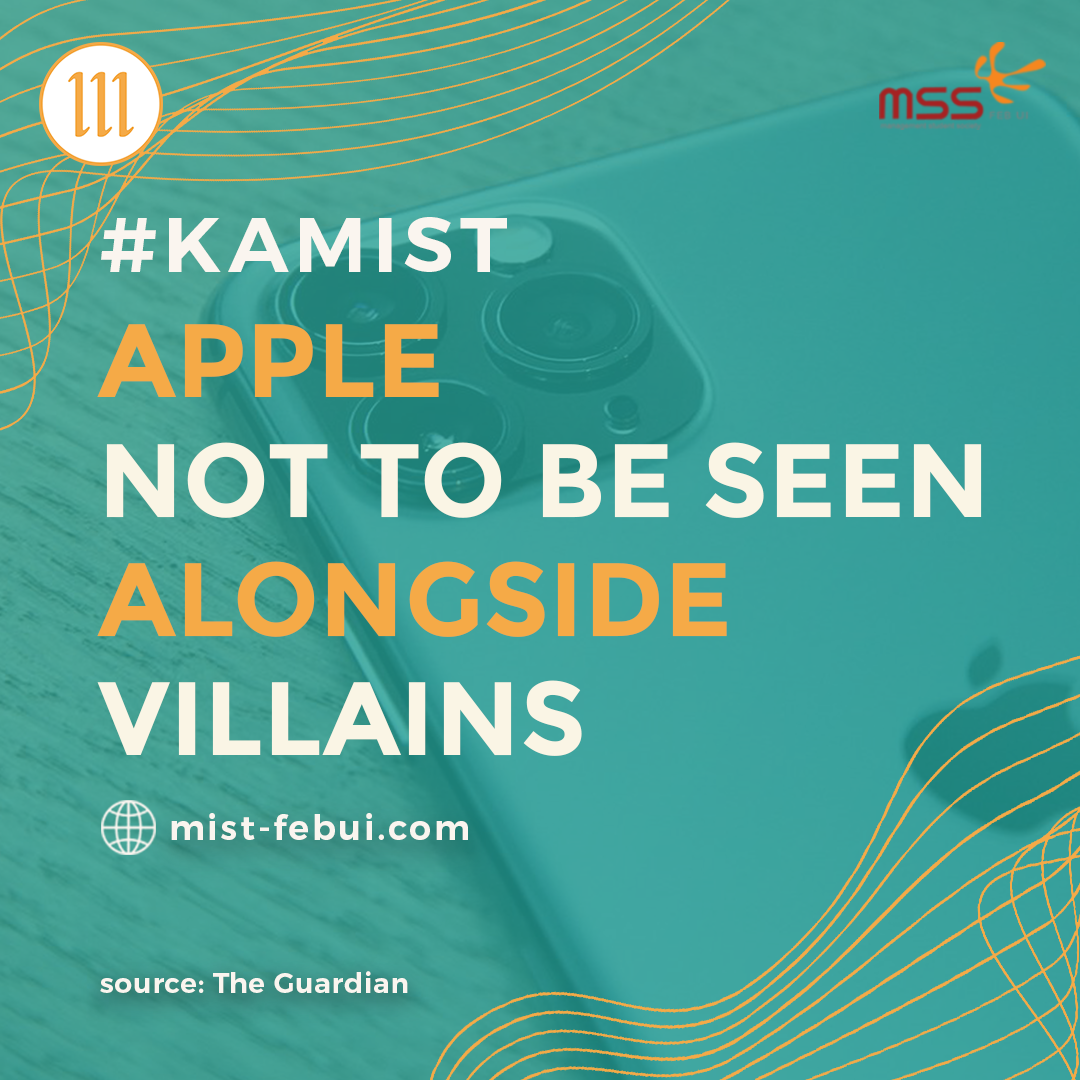 Apple Not To Be Seen Alongside Villains
