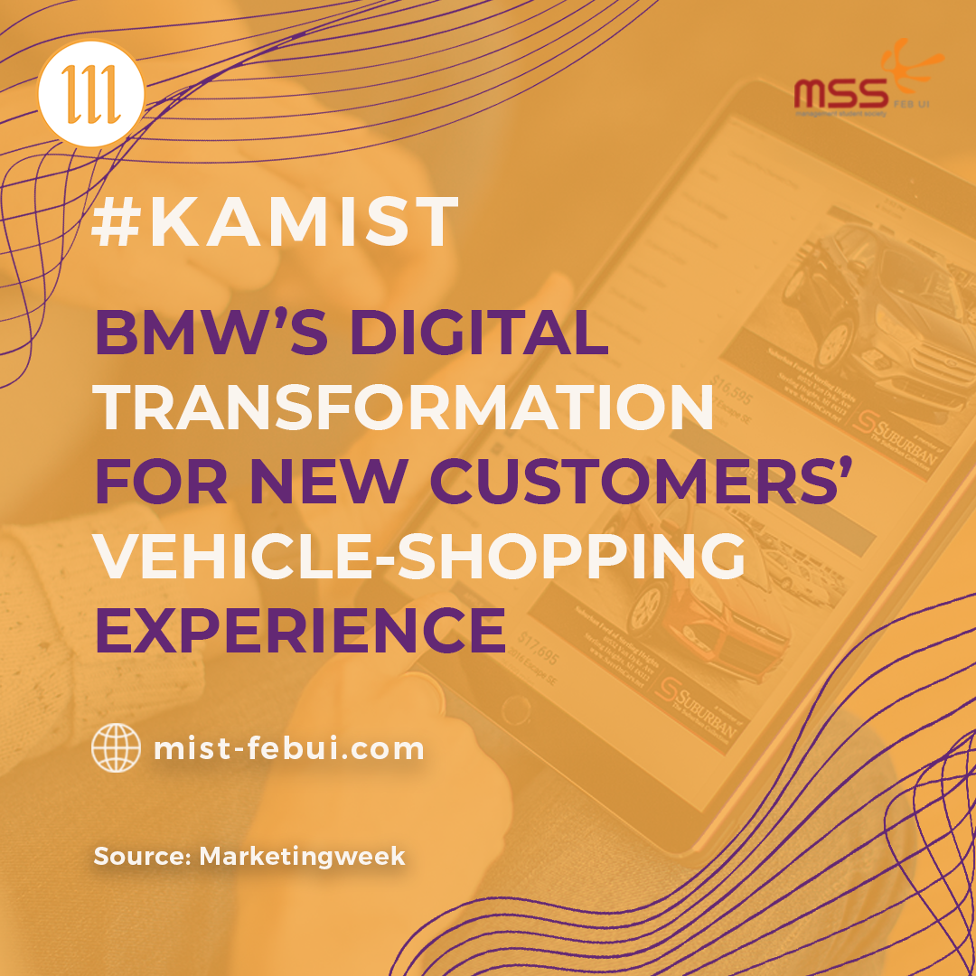 [BMW's digital transformation for new customers' vehicle-shopping experience.]